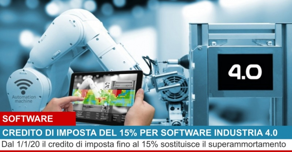 SUPER BONUS DEL 15% PER SOFTWARE INDUSTRIA 4.0